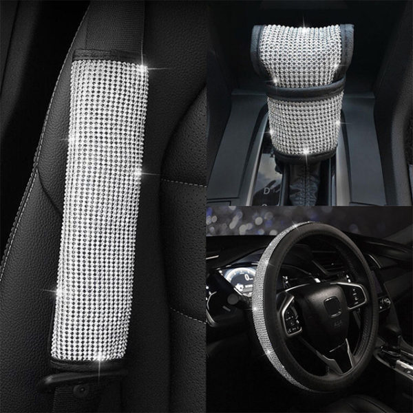 Diamond Crystal Steering Wheel Cover - Bling Set 2