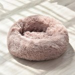 Calming Dog Pet Bet Anti-Anxiety Soothing Cat Beds Light Brown