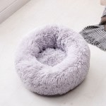 Calming Dog Pet Bet Anti-Anxiety Soothing Cat Beds Light Gray