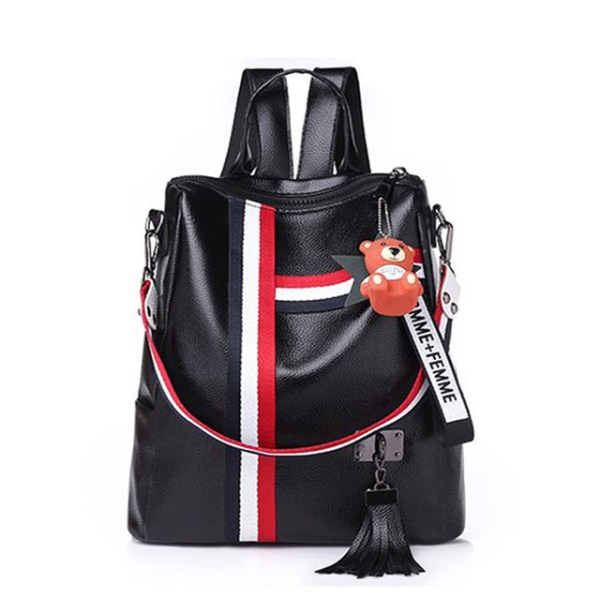 Alexandra Leather Backpack Purse Anti-Theft Convertible Bag - Black