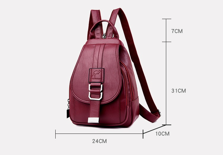 Leather Convertible Backpack Purse Anti Theft Crossbody Bag Dimensions