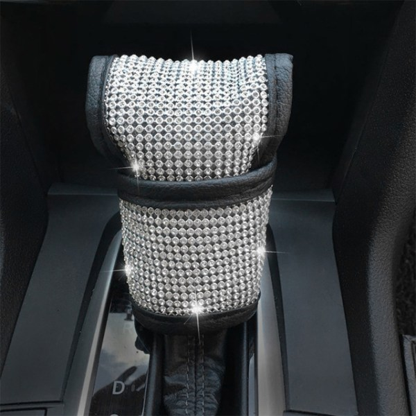Diamond Rhinestone Crystal Steering Wheel Cover - Gear Stick Cover