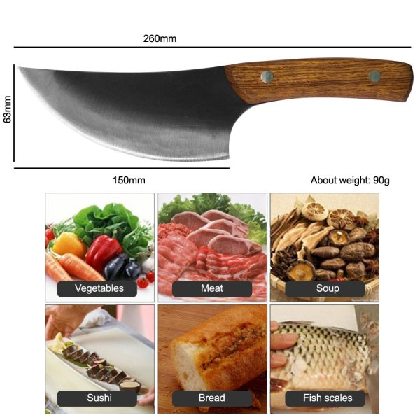 Handmade Kitchen 5.5 Inch Clever Knife Dimensions