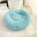 Calming Dog Pet Bet Anti-Anxiety Soothing Cat Beds Lake Blue