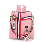 Alexandra Leather Backpack Purse Anti-Theft Convertible Bag - Pink