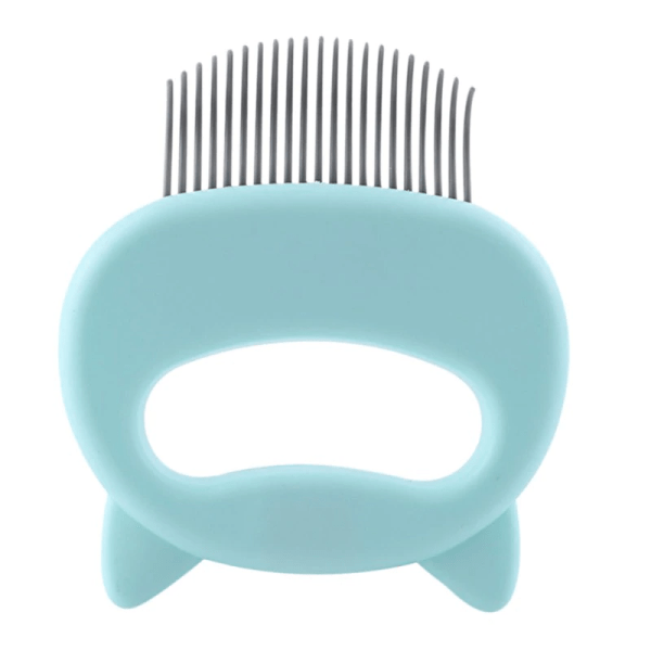 Cuddly Cat Comb Hair Remover Green