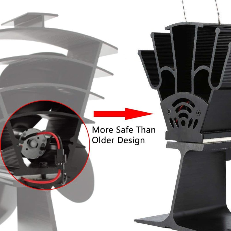 Thermal Fireplace Wood Stove Fan Latest Modern Design