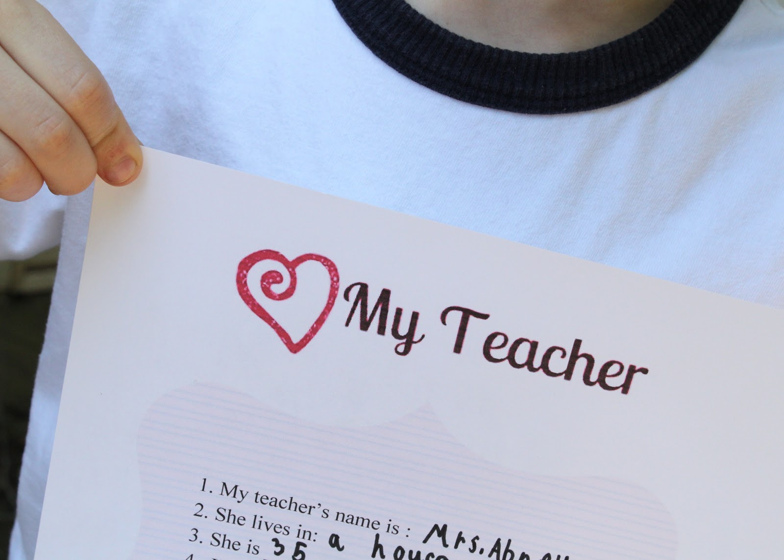 All About My Teacher Questionnaire With Printable