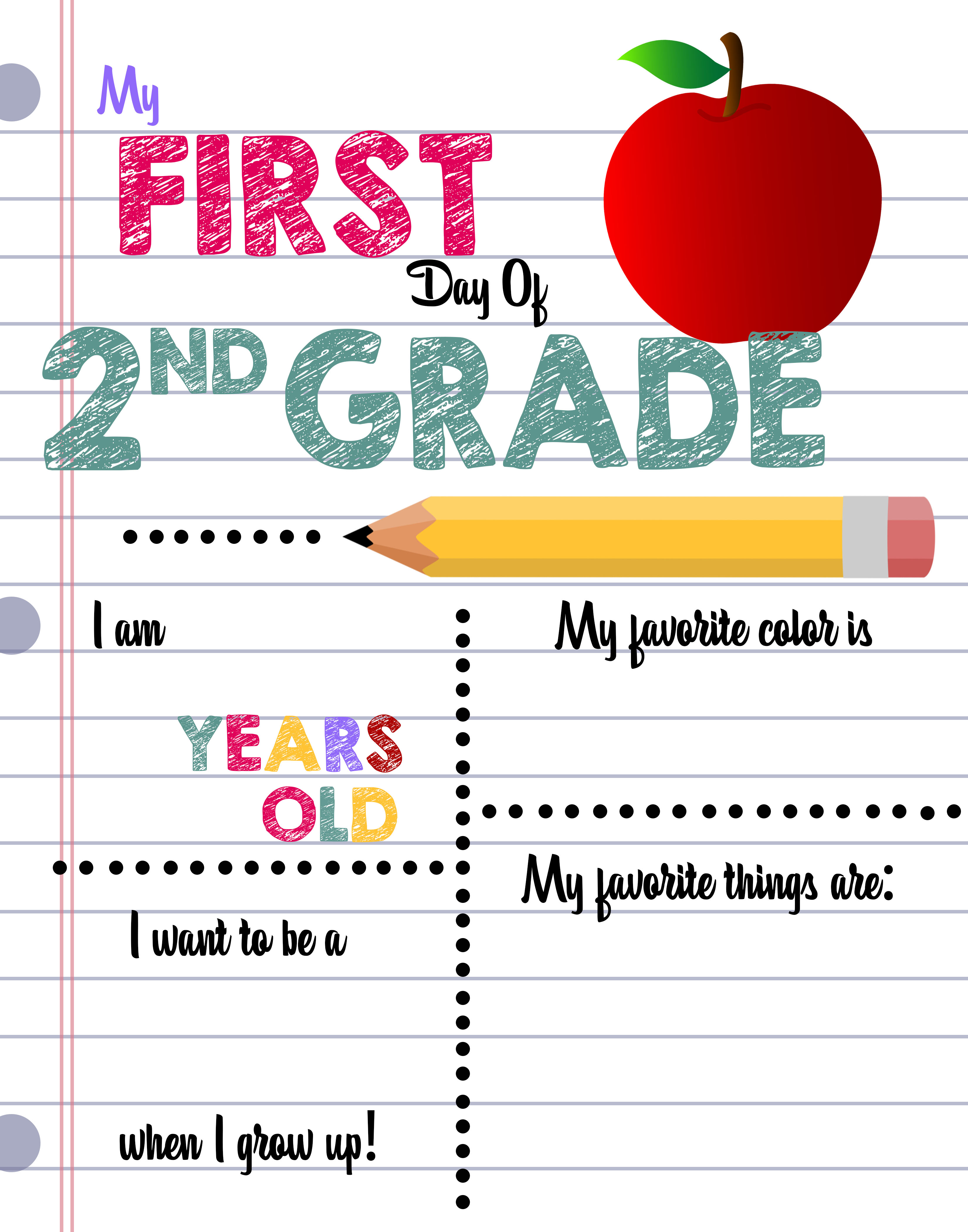 First Day Of School Printable Sign Custom Print Outs
