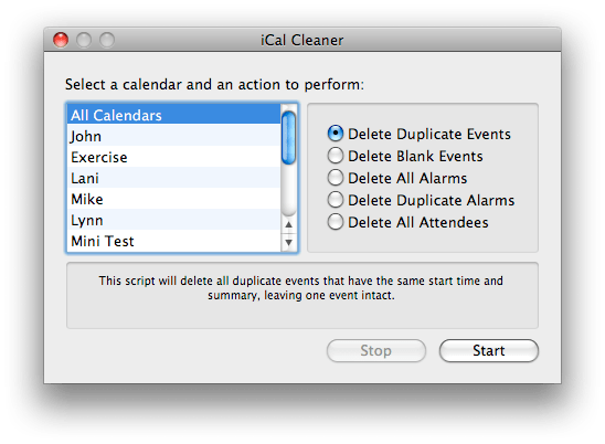 Icalcleaner