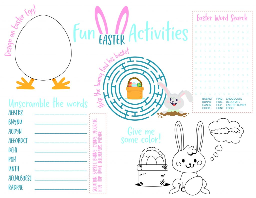 Printable Easter Activities For Kids