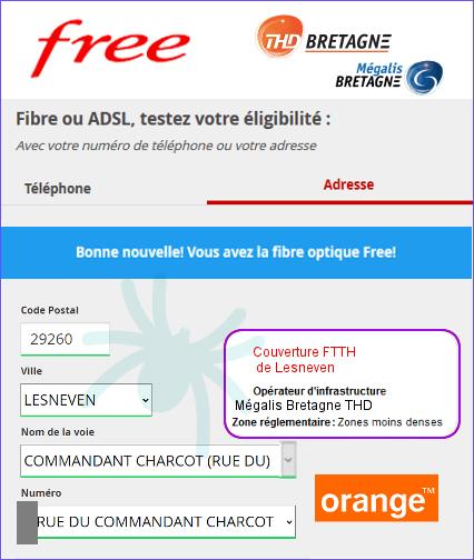 Free fiber arrives on the Mégalis Bretagne RIP 1st eligible Frebox addresses in Lesneven