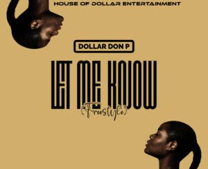 Dollar Don P - Let Me Know (Freestyle)