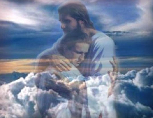 jesus-hugging-man clouds
