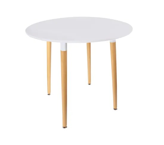 table ronde scandinave mobiliers design blanche