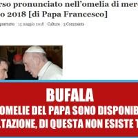L'omelia di Papa Francesco