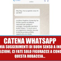 La catena WhatsApp della Johns Hopkins University