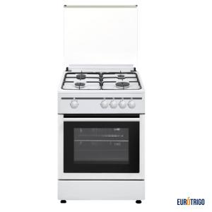 Cocina 4 quemadores para gas butanocon horno, color blanco, Vitrokitchen
