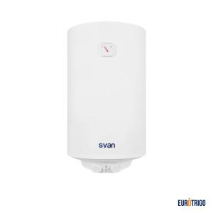Termo eléctrico de color blanco para calentar agua sanitaria con capacidad de 47 litros marca Svan