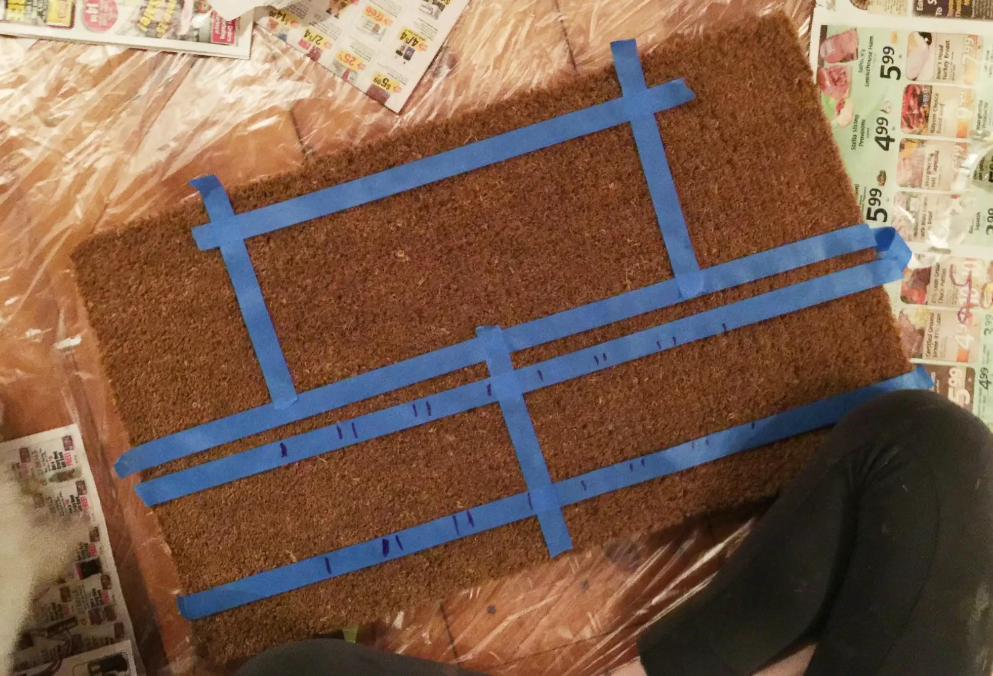 How to make a DIY doormat