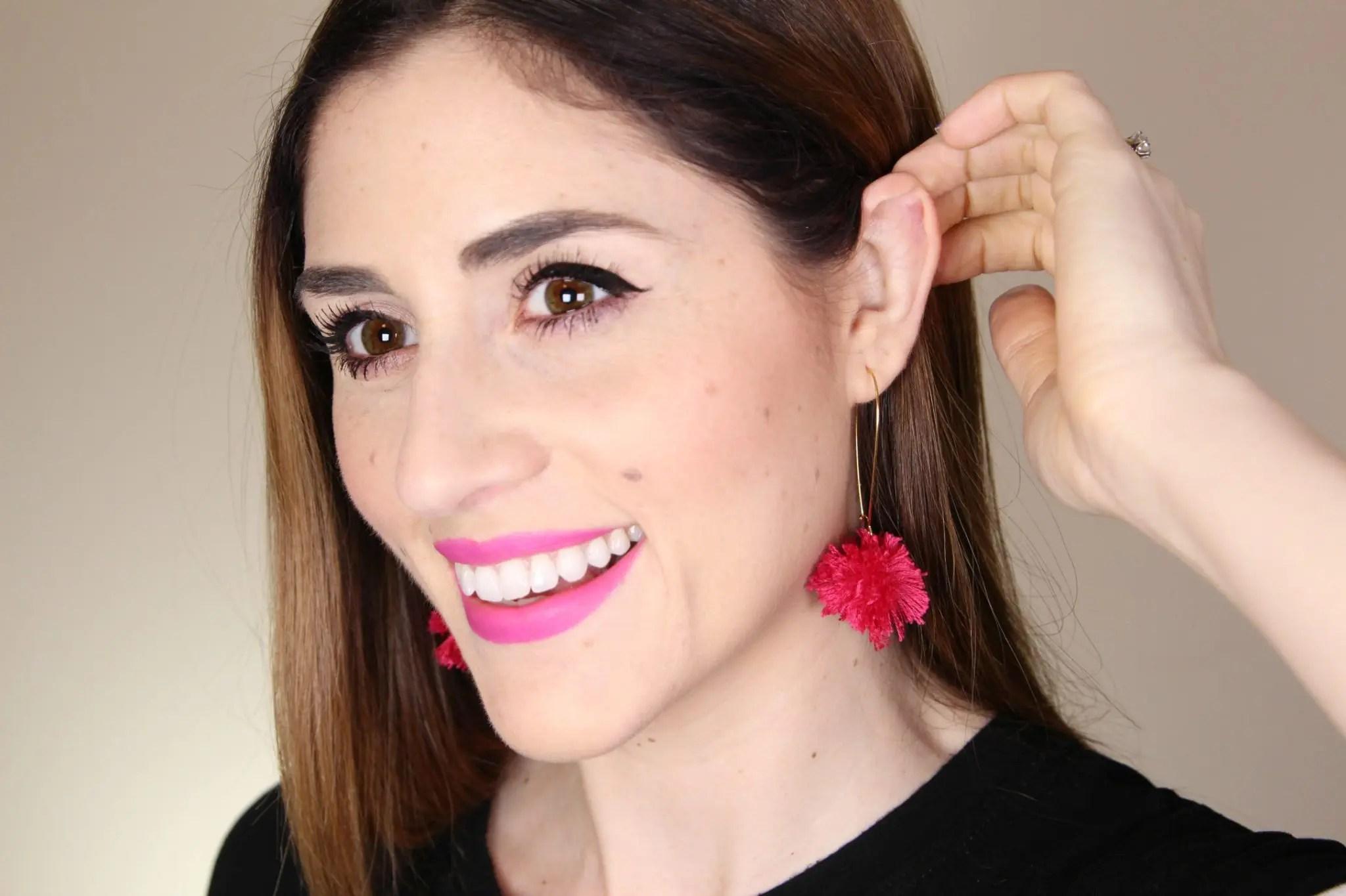 DIY Pom Pom Earrings | How to Make fun pompom earrings
