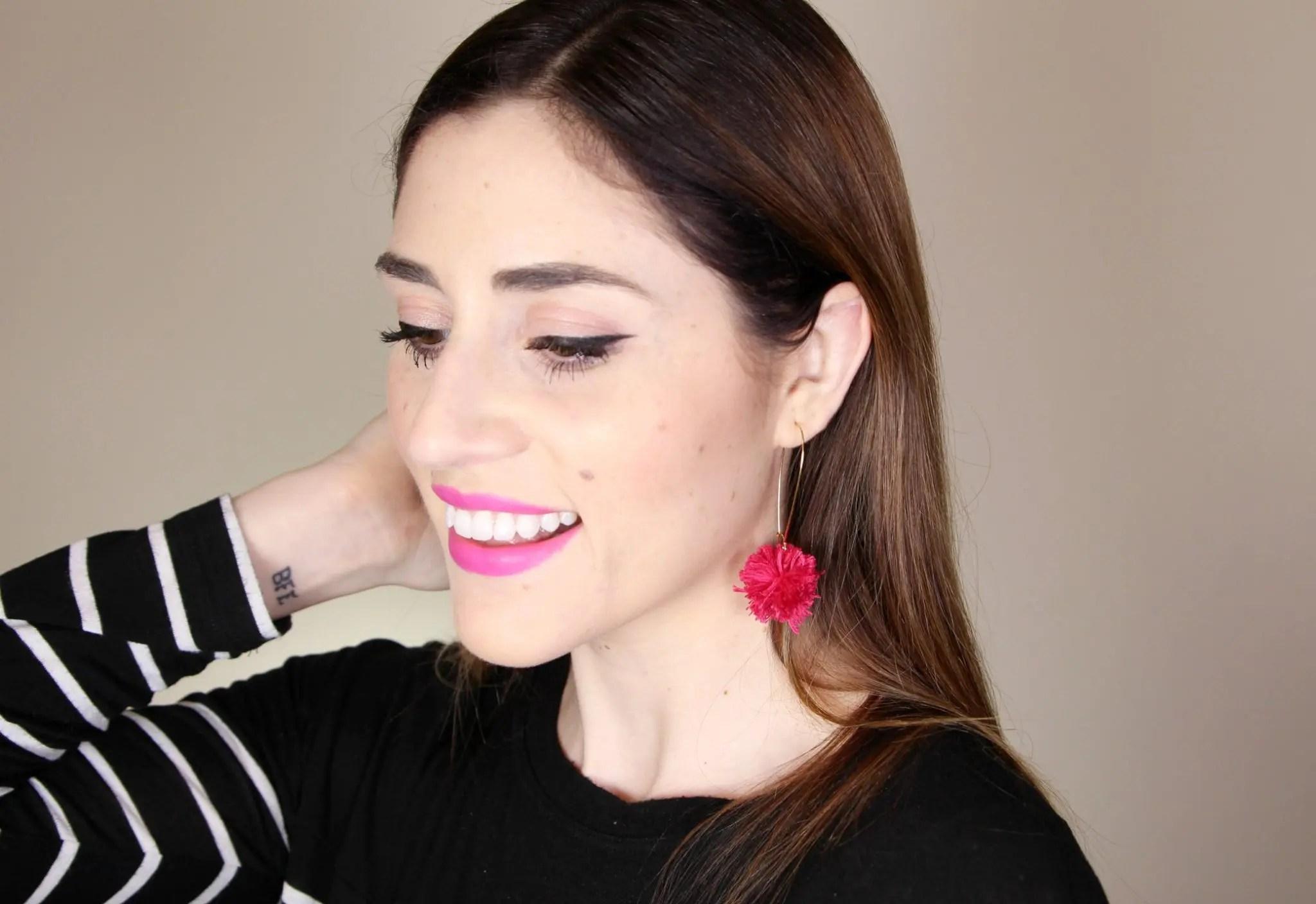 DIY Pom Pom Earrings | How to Make fun pompom earrings | CT Blogger