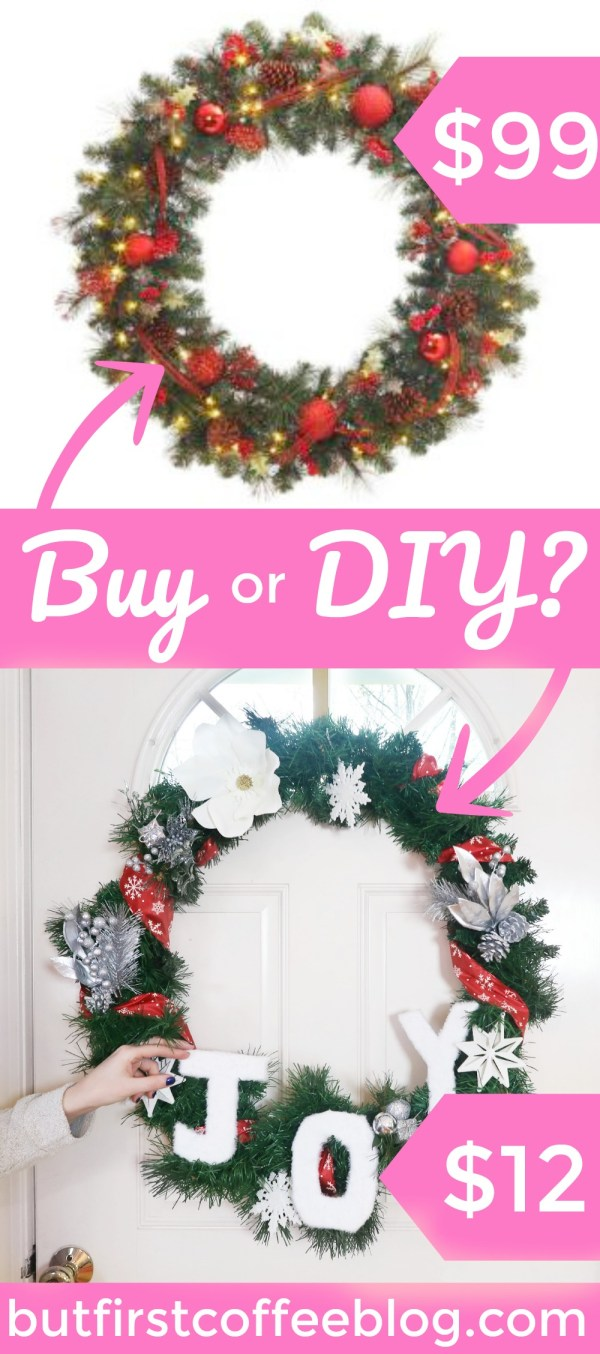 How to Make a Christmas Wreath from the Dollar Tree | Buy or DIY?