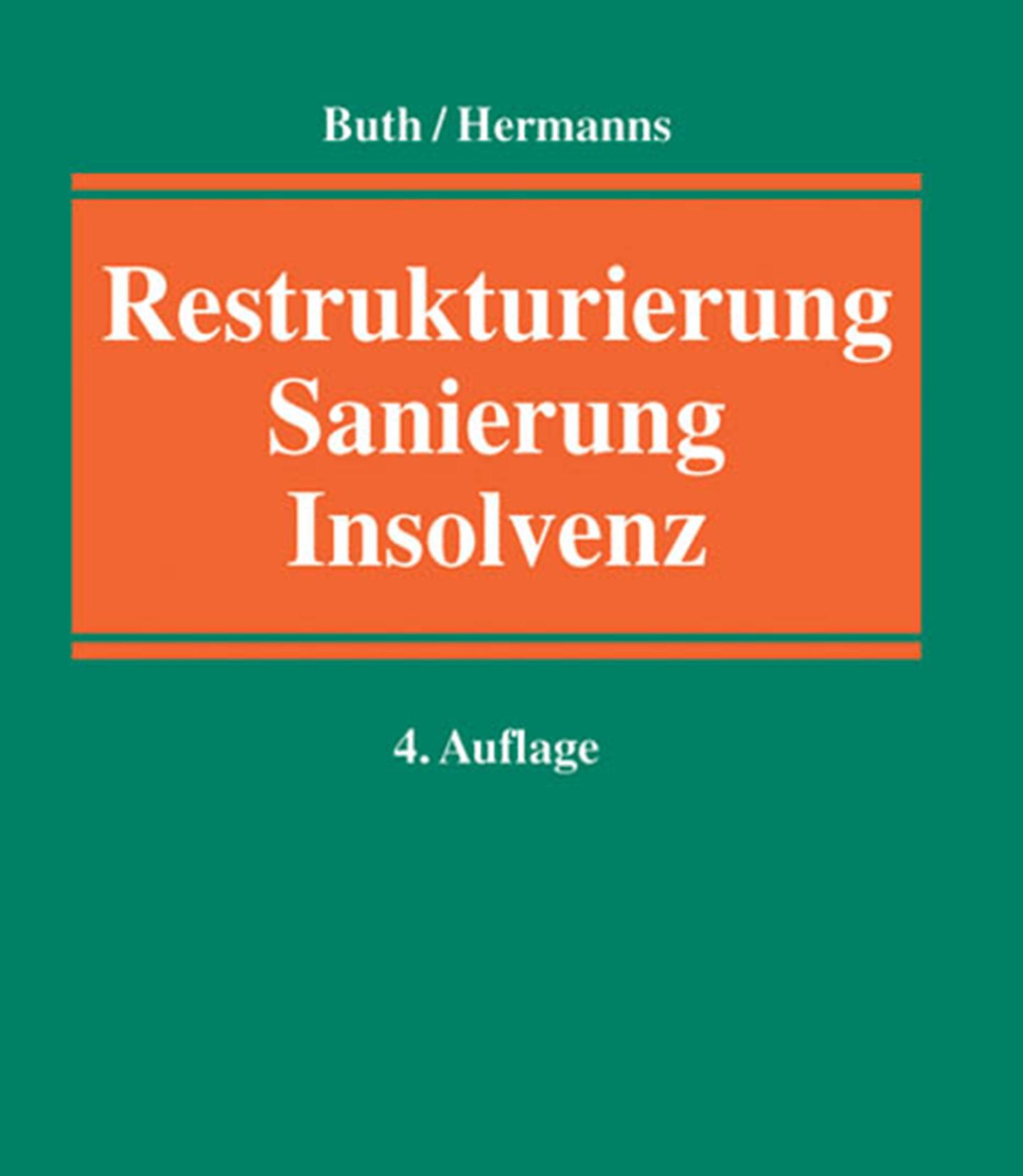 Buchcover Restrukturierung, Sanierung, Insolvenz