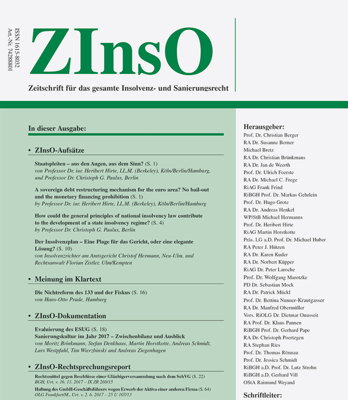 ZInsO Cover