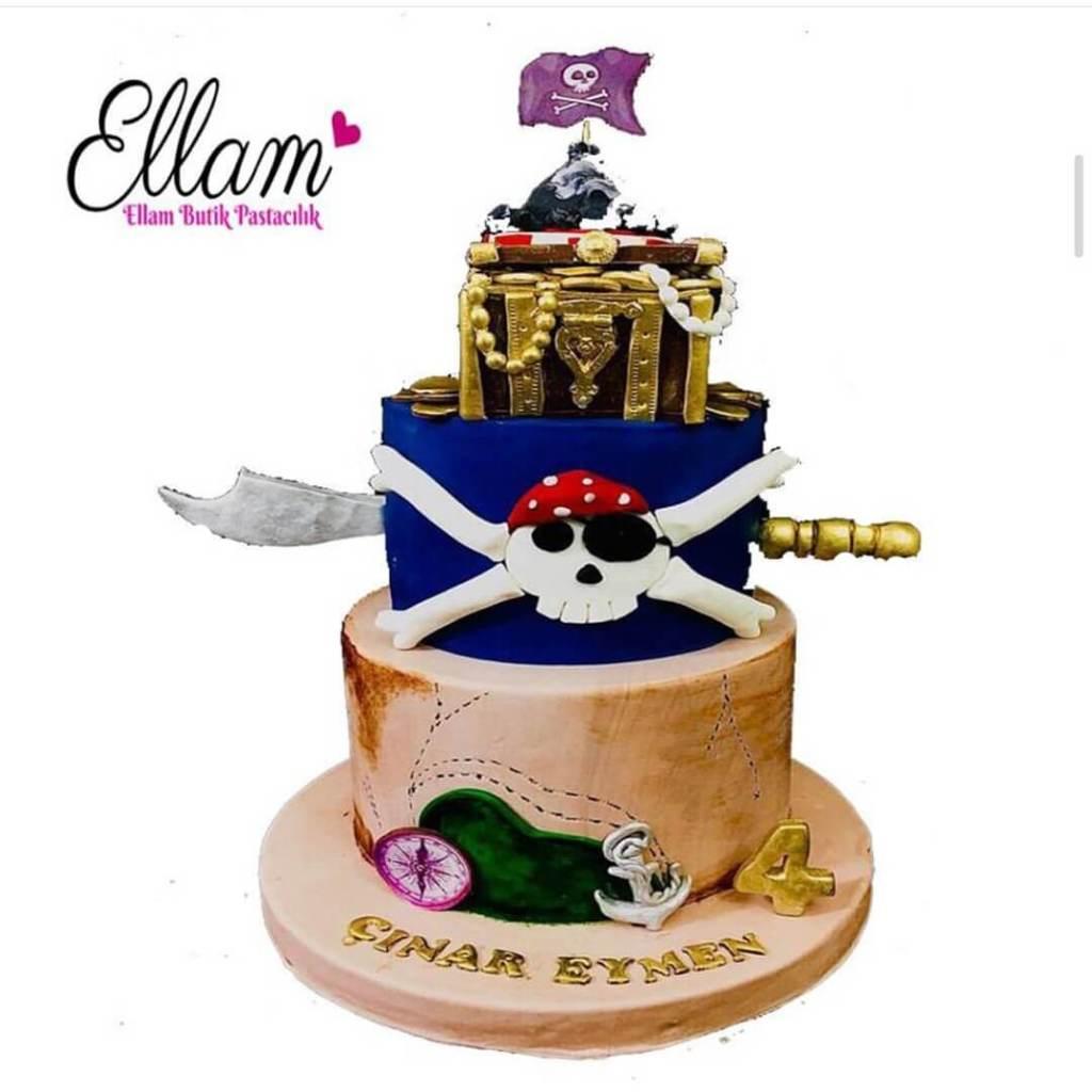 korsan temalı butik pasta