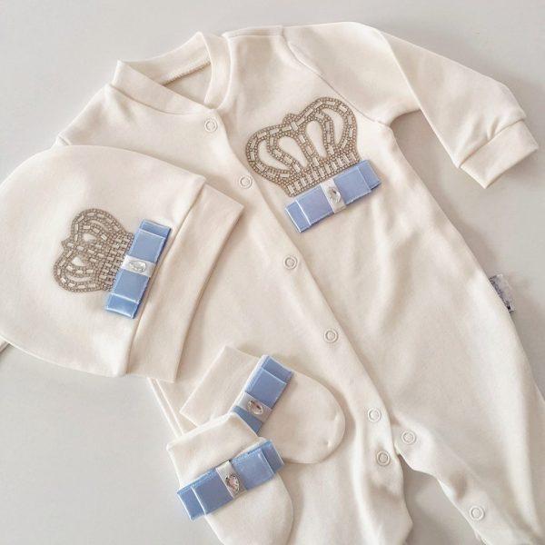 IMG 20171213 035253 930 - Taş Süslemeli Erkek Bebek Hastane Çıkışı 0-1 Ay