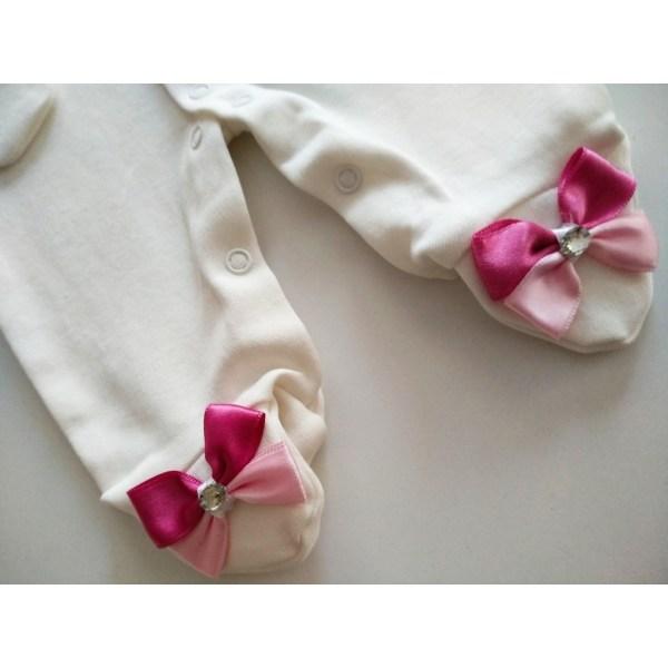 elebek tasli hastane cikisi - Kelebek Taş Süslemeli Kız Bebek Hastane Çıkışı 0-1 Ay