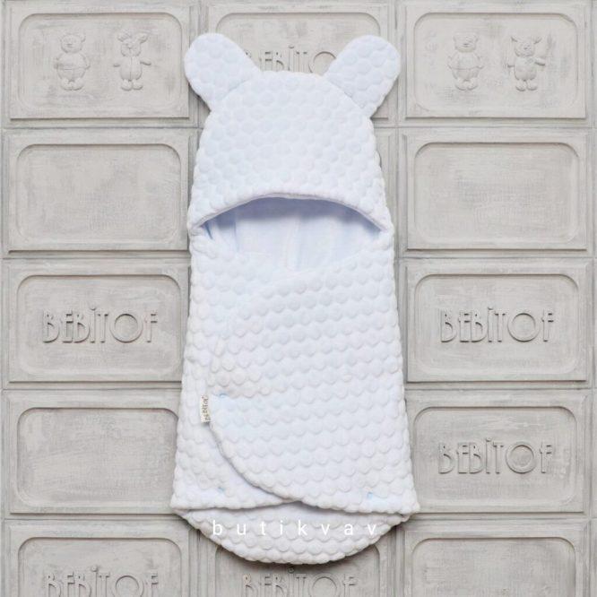 bebitof citcitli fluffy bebek kundak 01 scaled - Bebitof Çıtçıtlı Bebek Kundak Açık Mavi
