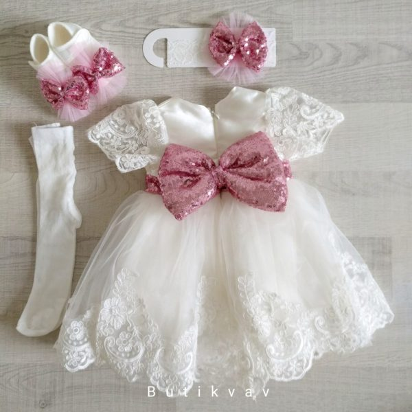 Kız Bebek Dev Fiyonklu Mevlüt Elbisesi Bebek Gelinlik 0 3 ay 01 - Kız Bebek Dev Fiyonklu Mevlüt Elbisesi Bebek Gelinlik 0-3 ay
