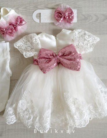 Kız Bebek Dev Fiyonklu Mevlüt Elbisesi Bebek Gelinlik 0 3 ay 01 - Kız Bebek Dev Fiyonklu Mevlüt Elbisesi Bebek Gelinlik 3-6 ay