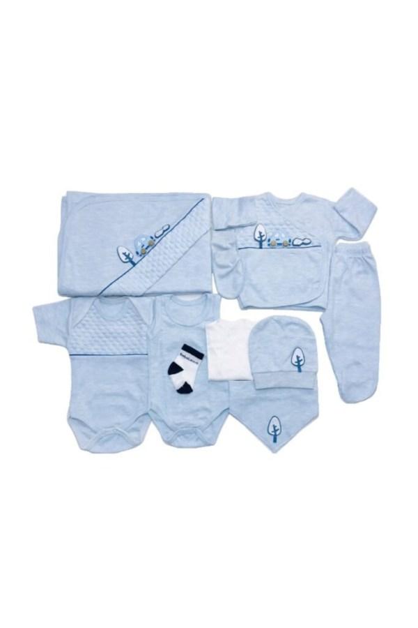 Erkek Bebek 10lu Hastane Çıkışı Seti 100 pamuk 08 scaled - Erkek Bebek 10'lu Hastane Çıkışı Seti Arabalı %100 pamuk