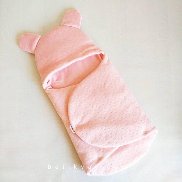 Kız Bebek Kışlık Peluş Kundak 0 6 ay 01 scaled - Kız Bebek Çıtçıtlı Fluffy Kundak 0-6 ay