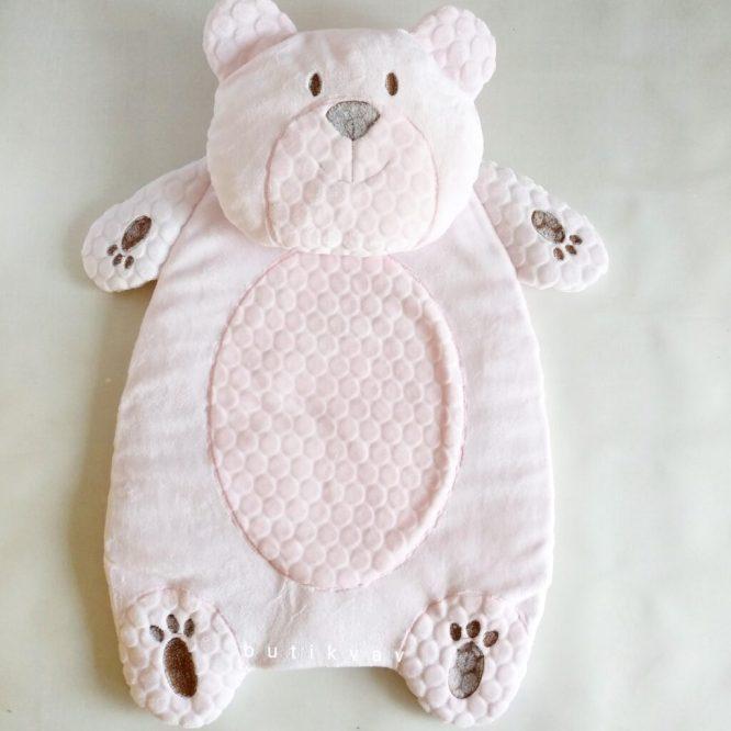 bebitof kiz bebek alt acma minder seti pelus ayi pembe 01 scaled - Bebitof Kız Bebek Alt Açma Minder Seti  - pembe