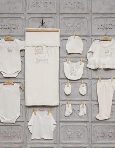 Bebitof Kız Bebek Dantel Süslemeli 10lu Hastane Çıkışı Krem 02 scaled - Bebitof Kız Bebek Dantel Süslemeli 10'lu Hastane Çıkışı - Krem