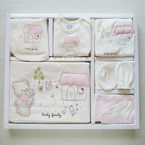gaye bebe kiz bebek kedili 10 lu hastane cikisi pembe 01 scaled - Kız Bebek Küçük Ev 10'lu Hastane Çıkışı