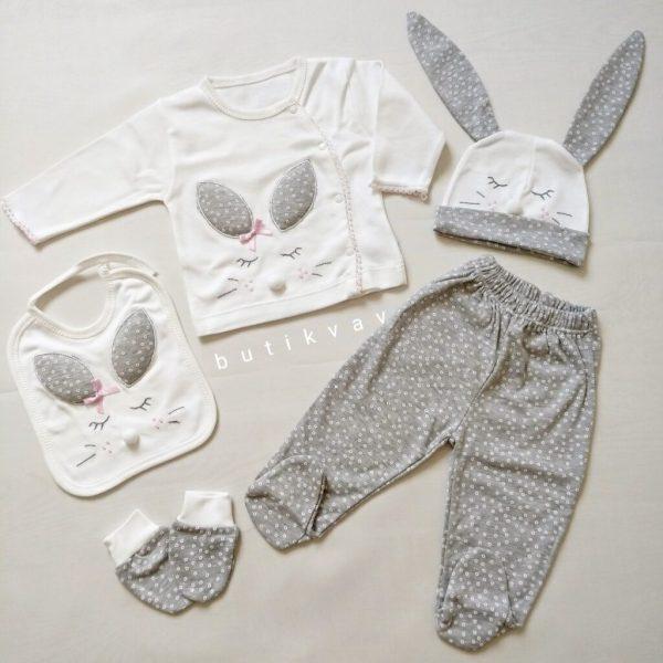 gaye bebe kiz bebek tavsan kulak 5 li hastane cikisi 01 scaled - Gaye Bebe Kız Bebek Tavşan Kulak 5'li Hastane Çıkışı