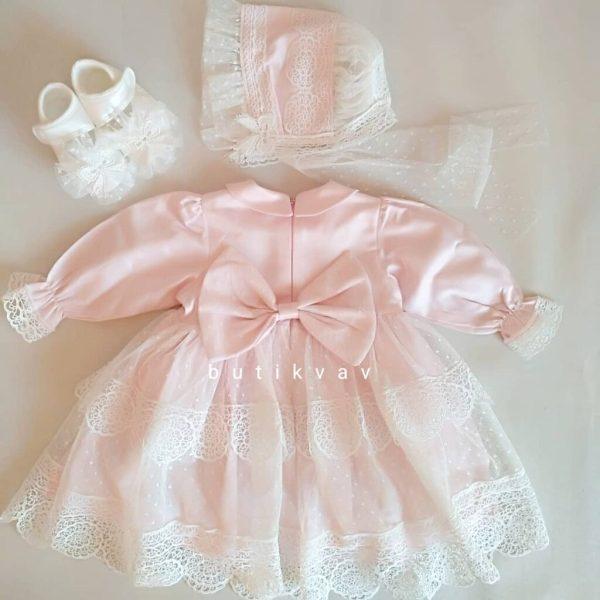 pugi baby kiz bebek dantelli mevlut elbisesi kopya 01 scaled - Pugi Baby Kız Bebek Dantelli Cotton Elbise 0-3 ay