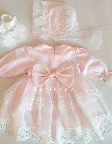 pugi baby kiz bebek dantelli mevlut elbisesi kopya 01 scaled - Pugi Baby Kız Bebek Dantelli Cotton Elbise 3-6 ay