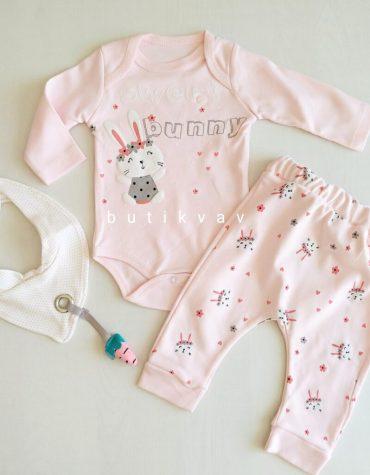 0 3 ay kiz bebek unicorn tutu etek takim 3 lu set kopya 01 scaled - 3-6 Ay Kız Bebek Sweet Bunny 3'lü Takım
