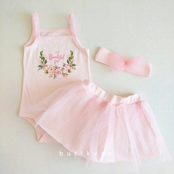 3 6 ay kiz bebek unicorn tutu etek takim 3 lu set 01 scaled - 3-6 Ay Kız Bebek Tütü Etek Takım 3'lü Set