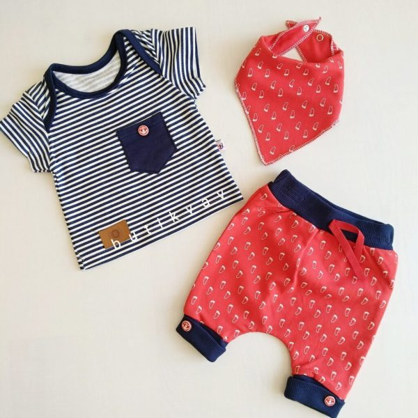 9 12 ay erkek bebek alt ust fular takim 3 lu set kopya 01 scaled - 9-12 Ay Erkek Bebek Alt Üst Fular Takım 3'lü Set