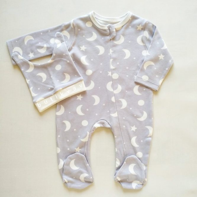 erkek bebek bulut baskili kapsonlu tulum 0 3 ay 01 scaled - Unisex Bebek Gökyüzü Tulum Seti 0-3 Ay