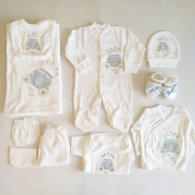 erkek bebek tas suslemeli tulumlu lux 10 lu hastane cikisi 02 scaled - Erkek Bebek Taş Süslemeli Tulumlu Lux 10'lu Hastane Çıkışı