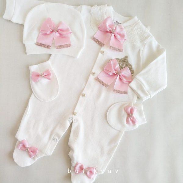 kiz bebek prenses tac suslemeli hastane cikisi 0 1 ay 03 scaled - Kız Bebek Prenses Taç Süslemeli Hastane Çıkışı 0-1 ay