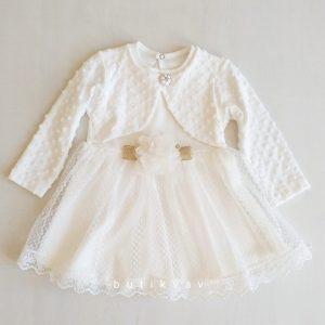 kiz bebek dantelli bolerolu elbise 18 ay 01 scaled - Kız Bebek Dantelli Bolerolu Elbise 18 Ay